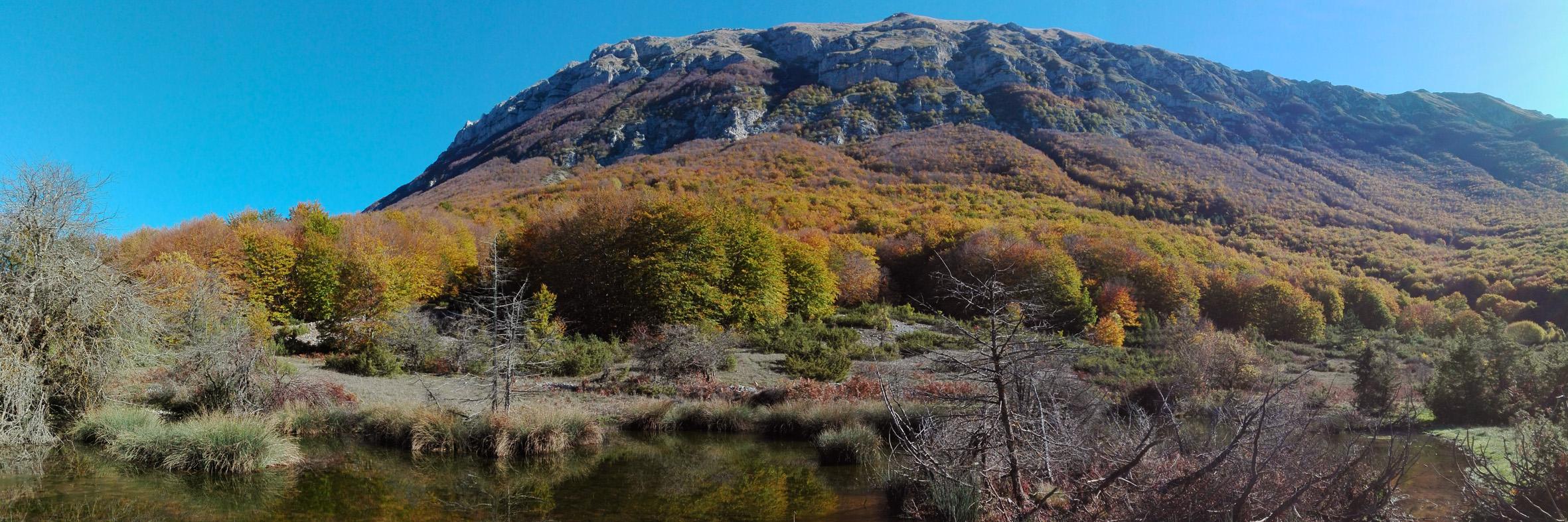 colori autunnali e foliage sulla majella occidentale nei pressi del PineCube