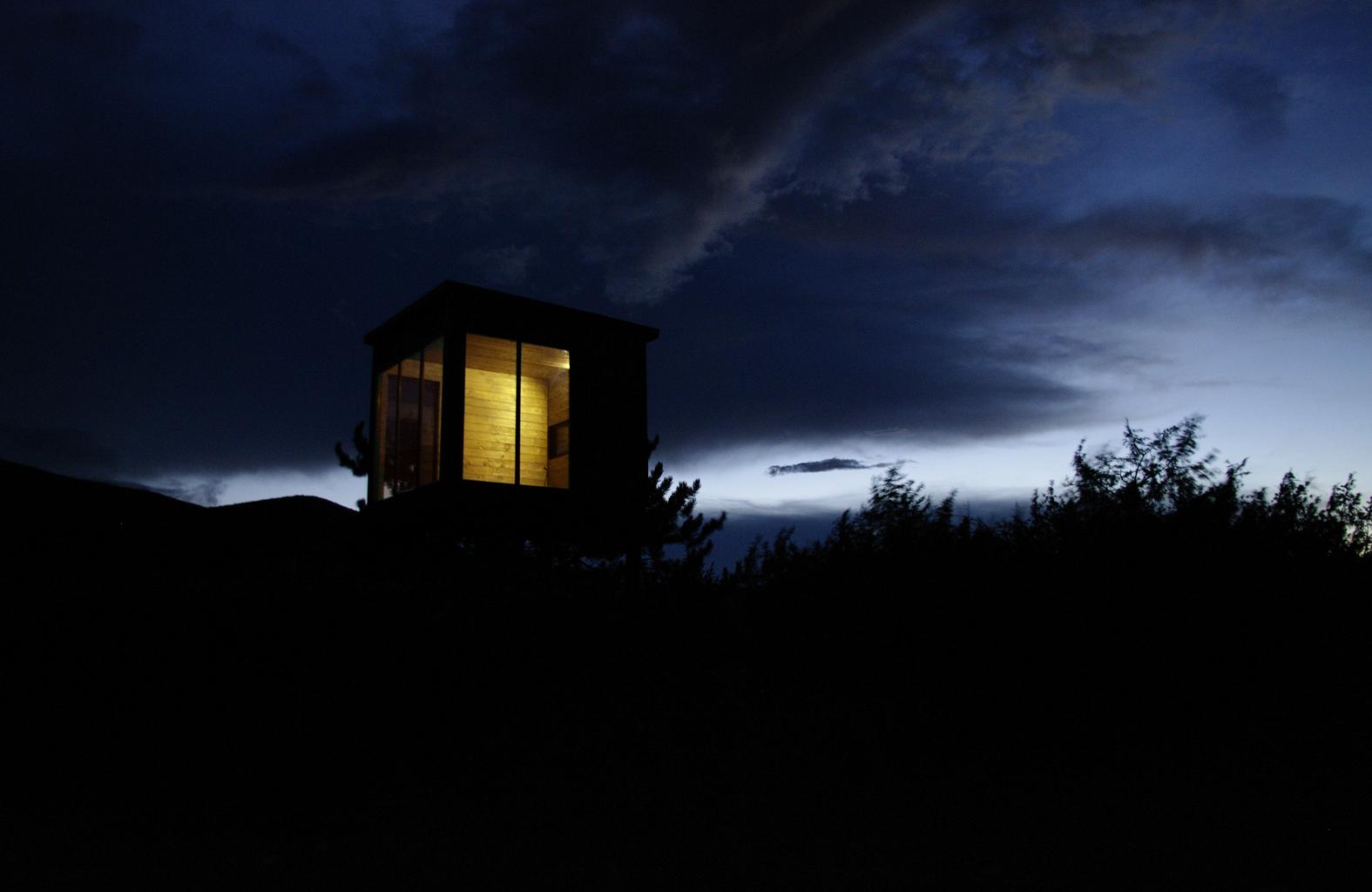 il PineCube al tramonto